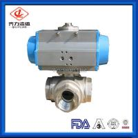China Food Grade Sanitary Ball Valve Male / Female Thread Floating Ball Core Structure wholesale