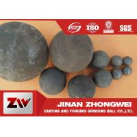 China 40mm 60mm B2 Material forged grinding ball media , steel balls for ball mill wholesale