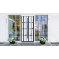 China Grey Tempered Glass Aluminium Sliding Security Doors Customized Shape wholesale