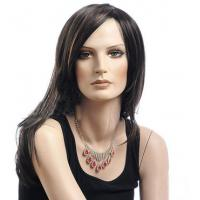 China Synthetic Heat Resistant Wigs / Long Bob Wigs With Side Bangs on sale