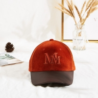 China Private label velvet adjustable orange custom embroidery baseball cap dad hats wholesale
