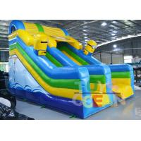China Custom Large Minions 3 Lanes Slide Inflatable Toboggan Playground For Kids wholesale