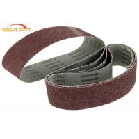 Quality 75x533mm Abrasive Metal Sanding Belts Aluiminum Oxide For Hard Wood P 40 - P 600 for sale