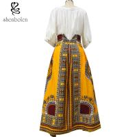 China Cotton Printed A Line Style African Print Skirts Designs Batik Fabric Fashion wholesale
