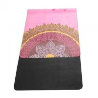 China High quality washable 72''x 26'' microfiber suede surface rubber bottom yoga mat wholesale