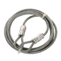 China Thimble Hot-Dip Galvanized Steel Braided Wire Rope Slings 1x19 With Both End wholesale