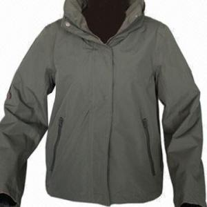 China Women's Outdoor Jacket, Army Green/Dark Navy, Fashionable Windbreaker wholesale