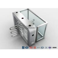 China Double Anti - Clipping Waist Height Turnstiles AC220V With Stepping Driver Motor wholesale