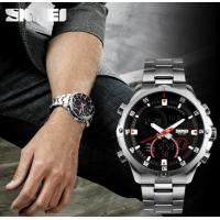 China Skmei Men Wrist Glamor Model Multifunction Dual time Stainless Steel Strap Rotatable Outdoor Wrist Watch 3ATM Black 1146 wholesale