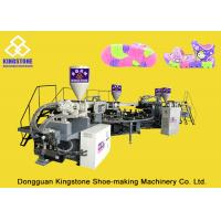 China 1 / 2 / 3 / 4 Color TPR PVC Sole Making Machine 100-120pairs / Hour For Plastic Shoes wholesale
