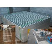 China Mild Steel Grating Plate Anti Skid , Light Weight Metal Grate Sheet For Stair Tread wholesale