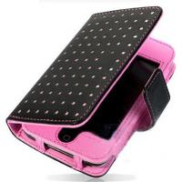 China Flip Style Fashionable Leather Mobile Phone Pouches For iPhone 5 wholesale