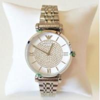 China Wholesale Emporio Armani Women New Watch Silver White Dial Genuine Retro Classic AR1925 AR1926 wholesale