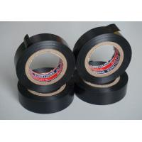 China Black PVC Electrical Adhesive Tape , 18mm Width Wiring Loom Tape wholesale