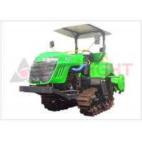 Quality 57kw Rice Field Tractor , Compact Crawler Tractor Higher Ground Clearance for sale