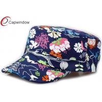 China Customed Floral Military Baseball Hats , Five Panel Snapback Baseball Caps wholesale