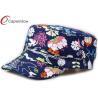 Buy cheap Customed Floral Military Baseball Hats , Five Panel Snapback Baseball Caps from wholesalers