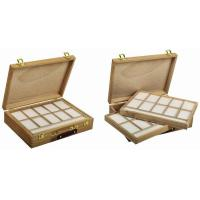 China Wooden Art Storage Box With Tray , Rectangular Paint Storage Containers 35.5 X 26.5 X 8.6cm wholesale