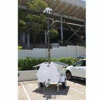 China 4.5m lockable CCTV pneumatic telescopic mast inside CCTV looms secuity camera mast on sale