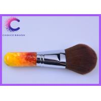 Quality Professional Face Makeup Brushes Cosmetic Tools with color acrylic handle for sale
