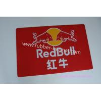 China Rectangular Red Rubber Door Mat Eco-friendly With Redbull Logo wholesale
