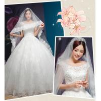 China Rhinestone Round Neckline Sweetheart Lace Wedding Dress for Girls , Womens , Ladies wholesale