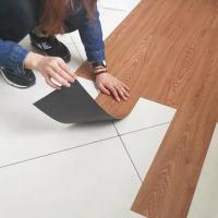 China Moisture Proof Self Adhesive Vinyl Floor Tiles Noise Reduction For Offices on sale