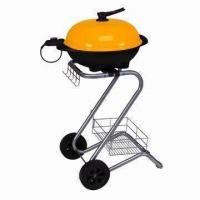China Indoor/Outdoor Electric BBQ Grill, 220 to 240V/1,700 to 2,000W, Removable Cover on sale