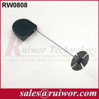 China 0.6 Mm Cable Diameter Display Security Tether With Sticky Flexible ABS Plate wholesale
