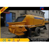 China High Pressure Concrete Trailer Pump , Concrete Pumping Machine Filling Height 1.4M wholesale