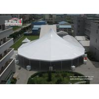 China Heavy Duty White High Peak Tents / Marquees , Clear Span Tents Structure For Event wholesale