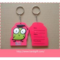 China Nice design PVC fitness keychain  key tag wholesale