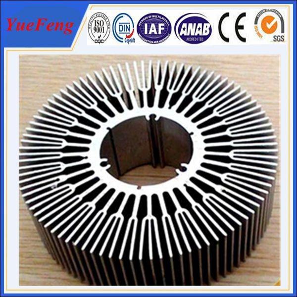 Quality 6063 T5 aluminum circular heat sink / OEM perfil aluminium round shape heat sink for sale