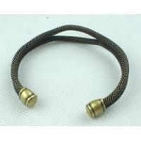 China Unisex Copper Alloy Jewelry Chain & Link Bronze Cuff Bracelet 38g for Anniversary wholesale