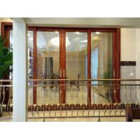 China Balcony Interior Aluminium Entrance Doors Color Reflectived Glazed Wind Pressure wholesale