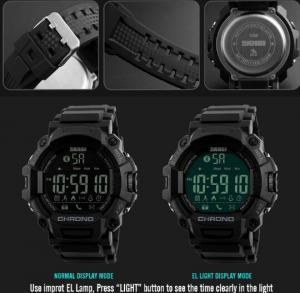 Quality Skmei Fashion Bluetooth Smart Innovation Remote Camera Pedometer Chrono for sale