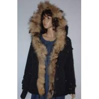 China Womens Winter Coat with Fully Fur Hood Made of 100 Terylene wholesale