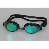 China Silicone Swimming Goggles With Hard Mirror Coated Lens wholesale