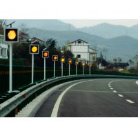 China Sychronized Solar Blinker Light LED Traffic Signs 12 Hours Flashing wholesale