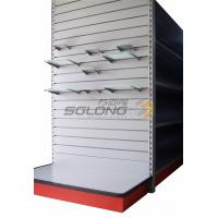 China Slatwall Shelf Slot Supermarket Display Stands , Supermarket Display Shelving wholesale
