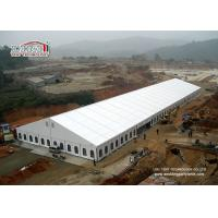 China 30 x 100m Huge White Marquee Tent Aluminum Frames PVC Sidewalls with Clear Windows Tent wholesale