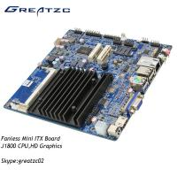 China Fanless Design DC 12V Mini ITX Motherboard Support Double Display VGA HDMI LVDS wholesale