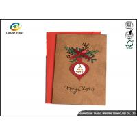 China Handmade Brown Kraft Paper Chrismas Greeting Cards Offset Printing wholesale