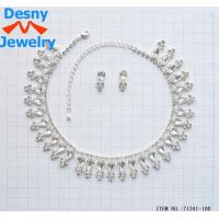 China OEM / ODM Bib statement necklace Crystal Necklace and Earring Set wholesale