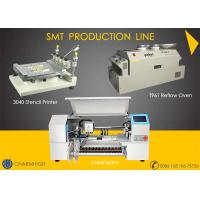 Buy cheap High configuration SMT Line 60 Feeders 4 heads CHMT560P4 SMT P&P Machine / Reflow Oven T961 /  Solder paste printer 3040 from wholesalers