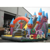 China Giant 0.55mm PVC Viyle Double Inflatable Slides For Amusement Park wholesale