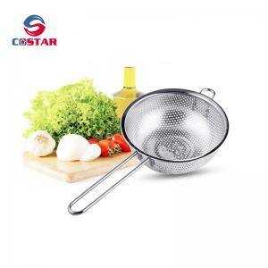 China Kitchen Strainer Colander Basket - Fine Mesh Net Quality Stainless Steel Kitchen Sieve Strainer, Draining, Salad and Noo wholesale