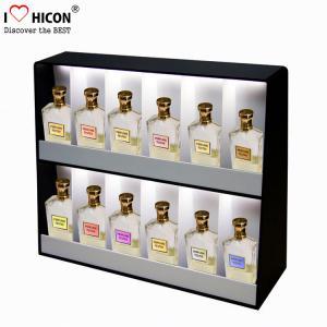 China Lighting Makeup Display Stands Acrylic , Perfume Cosmetic Display Units Countertop wholesale