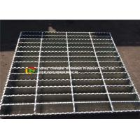 China 30 X 4 Serrated Bar Grating Stair Treads Skid Proof Beautiful Surface wholesale