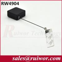 China Anti Theft Tether Plastic Pull Box Square Shaped With Sticky Metal Plate wholesale